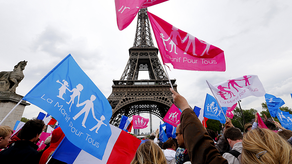Anti-gay marriage march in Paris (Image: Reuters)