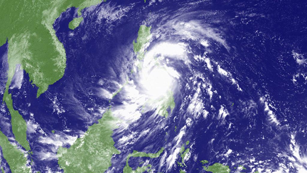 Satellite image of Haiyan (Reuters)