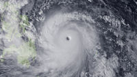 Super typhoon Haiyan moves towards the Philippines. Handout from the National Oceanic and Atmospheric Administration. (Getty)