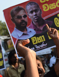 Sri Lanka's disappeared: Lalith Weeraraja and Kugan Muruganandan (picture: Getty)