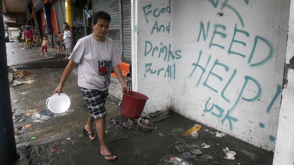 Typhoon Haiyan: Philippine people desperate for aid (picture: Reuters)
