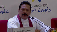 President Mahinda Rajapaksa speaks at Commonwealth summit in Colombo, Sri Lanka