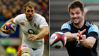 England captain Chris Robshaw and New Zealand captain Richie McCaw (Reuters)