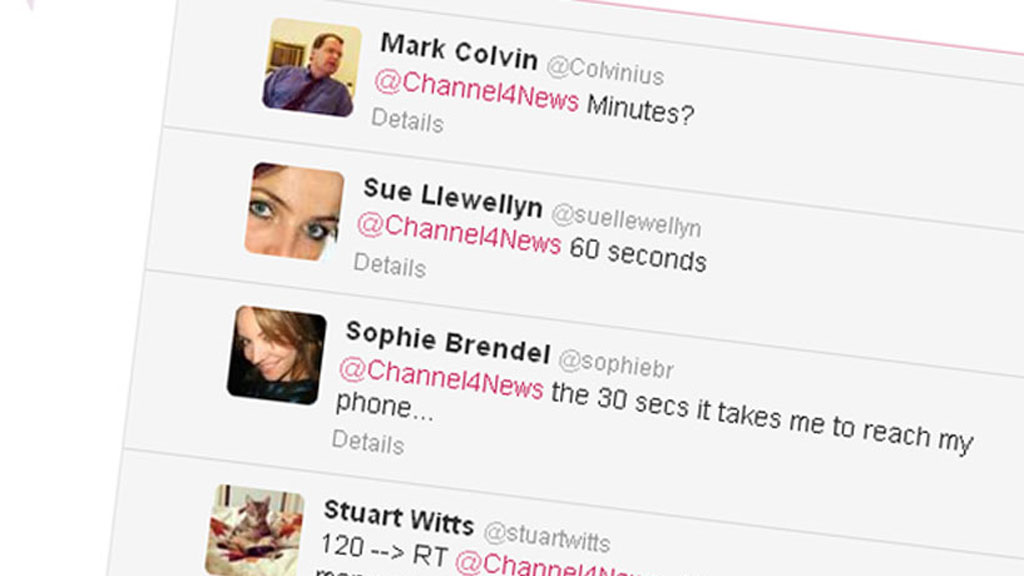 Twitter response to morning phone habits