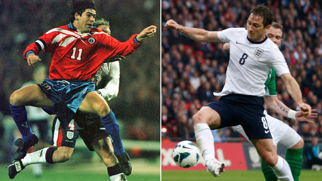 Marcelo Salas of Chile (1998) and England's Frank Lampard (2013)