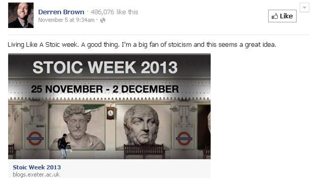 Derren Brown's Facebook page