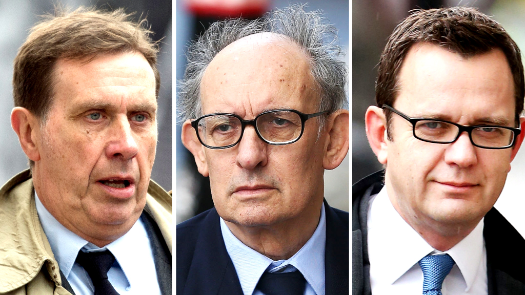 Clive Goodman, Stuart Kuttner, Andy Coulson (Getty)