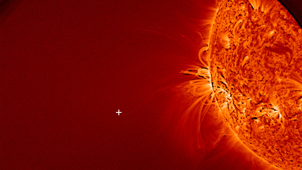 Comet Ison is missing from this image of the sun (picture: NASA)