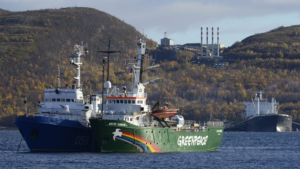 Russia charges Greenpeace qactivists with piracy (Reuters)