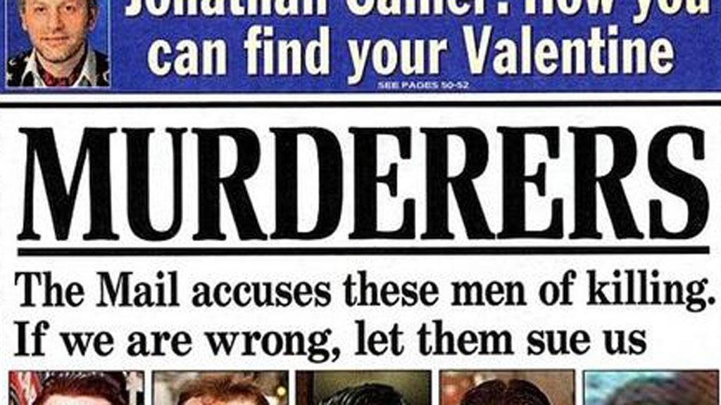 Daily Mail 'murderers' headline
