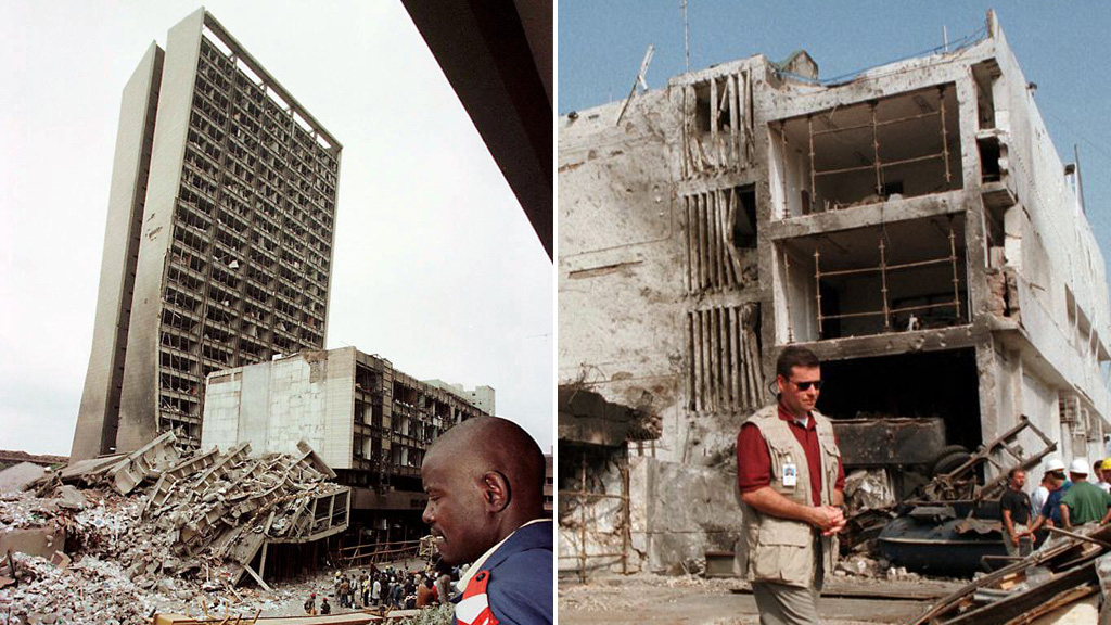 Al-Libi was indicted by teh US for his alleged involvement in the 1998 bombing of embassies in Dar es-Salaam and Nairobi (picture: Getty)