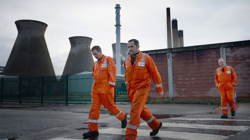 Workers at the Grangemouth industrial plant (Getty)