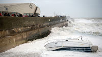 Latest pictures as St Jude storm sweeps across England and Wales.