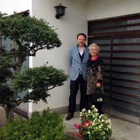 Garry Thomas and Yanai San in Japan (Garry Thomas)