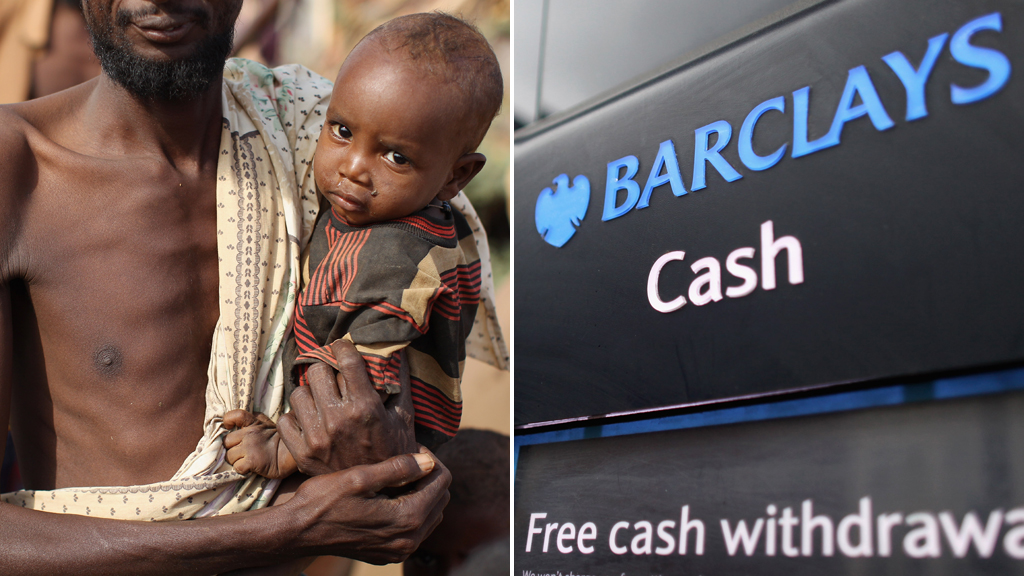 Charities tell Barclays Bank not to close Somali cash lifeline (pictures: Getty)