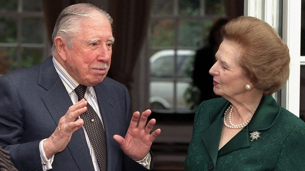General Pinochet with Mrs Thatcher