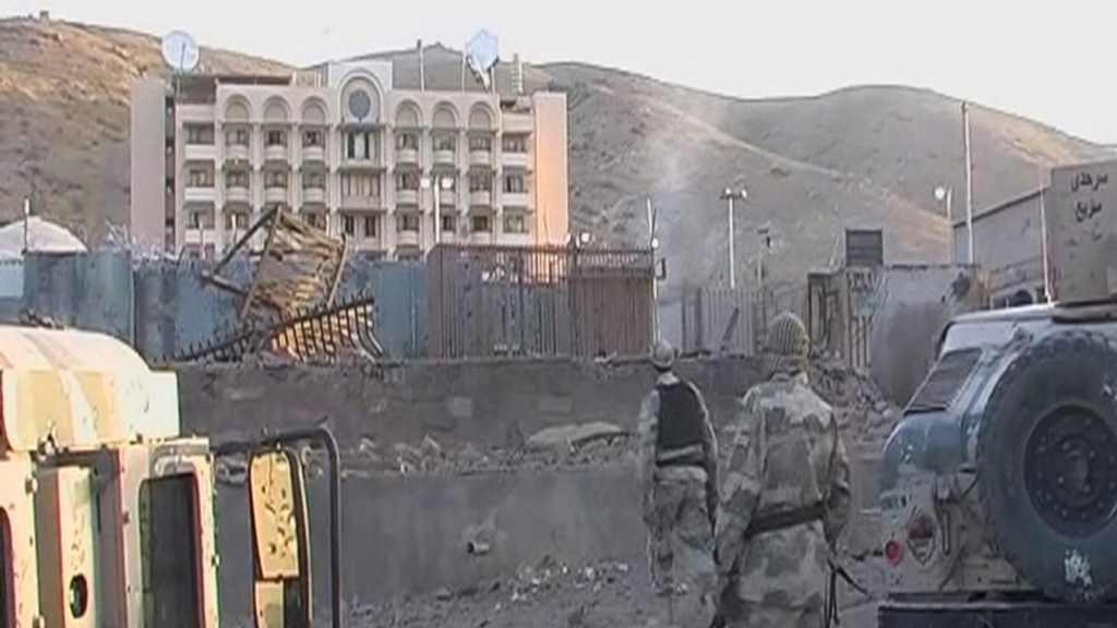 At least seven militants and two members of Afghan security forces died in US consulate attack (picture: Reuters)