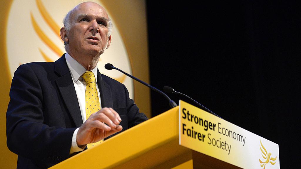 Vince Cable at the Lib Dem party conference in Glasgow (Image: Reuters)