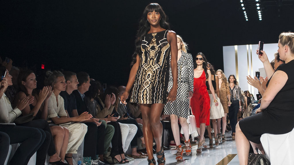 Naomi Campbell closes the DVF show in New York (reuters)