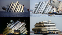 Salvaged cruise ship the Costa Concordia still many months away from scrap (Getty)