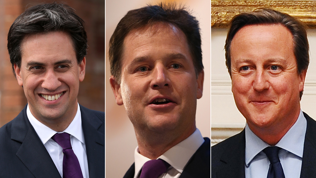 Ed Miliband, Nick Clegg and David Cameron will be seeking to prove their credibility in the run up to the 2015 election (pictures: Getty)