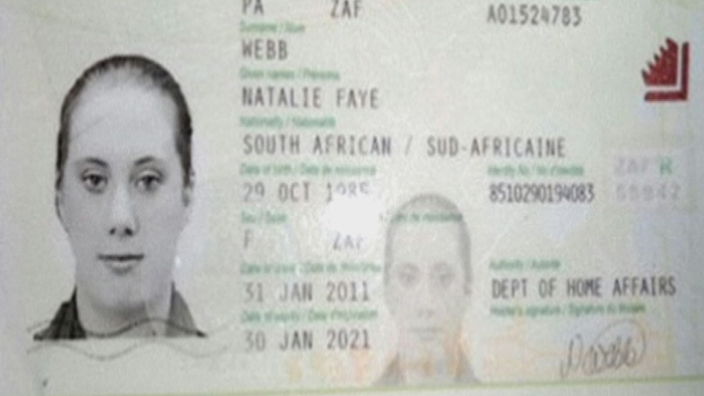 Samantha Lewthwaite's passport. Kenyan forces and Interpol says she also goes by the name Natalie Webb