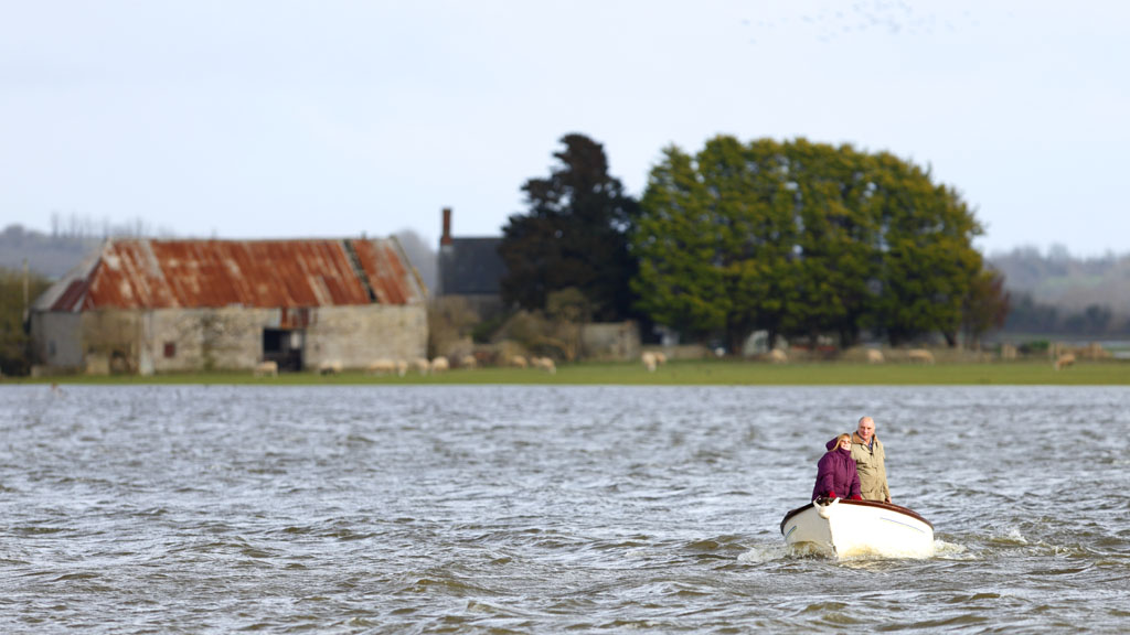 Flooding on the Somerset Levels (Getty)