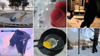Polar vortex exeperiments in the US (pictures: Youtube)
