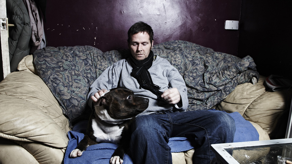 'Fungi' and his dog on the sofa (Channel 4)