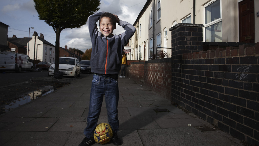 Gerrard, one of the young residents of James Turner Street (Channel 4)