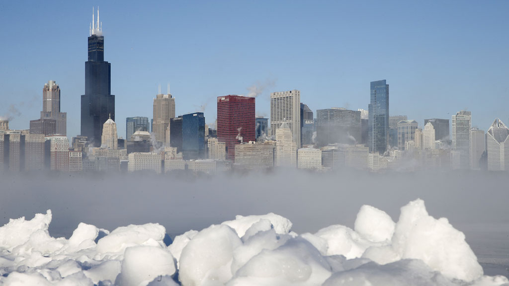 Polar vortex: Chicago in the freezing weather