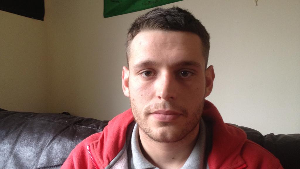 British army Afghanistan veteran Matthew Morgan (ITN)