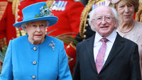 Queen Elizabeth II and Michael Higgins (picture: Getty)
