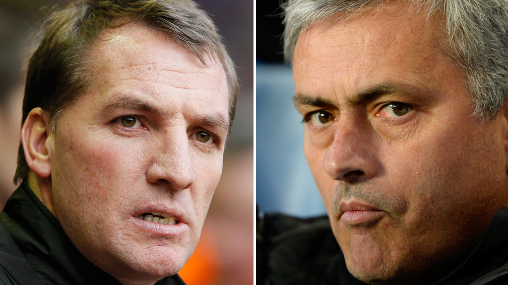 Brendan Rodgers and Jose Mourinho (Reuters)