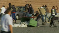 African migrants clash in Calais
