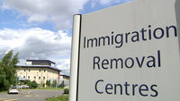 Detainees at immigration detention centres across the UK are working for as little as �1 an hour, carrying out work that could potentially save private contractors millions of pounds each year.