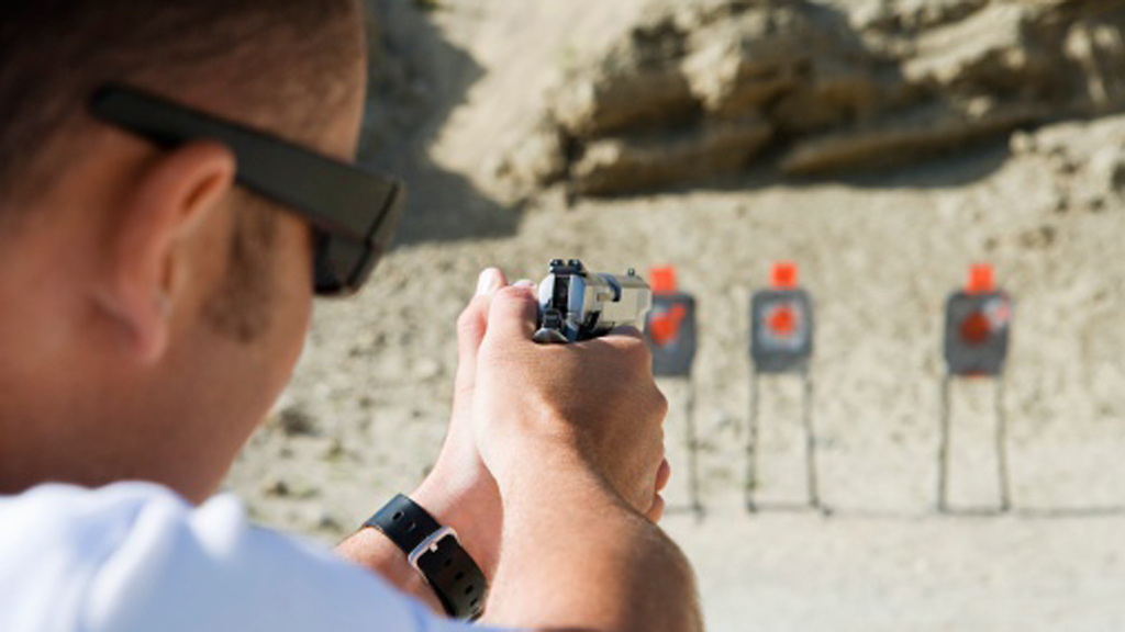 Man at shooting range