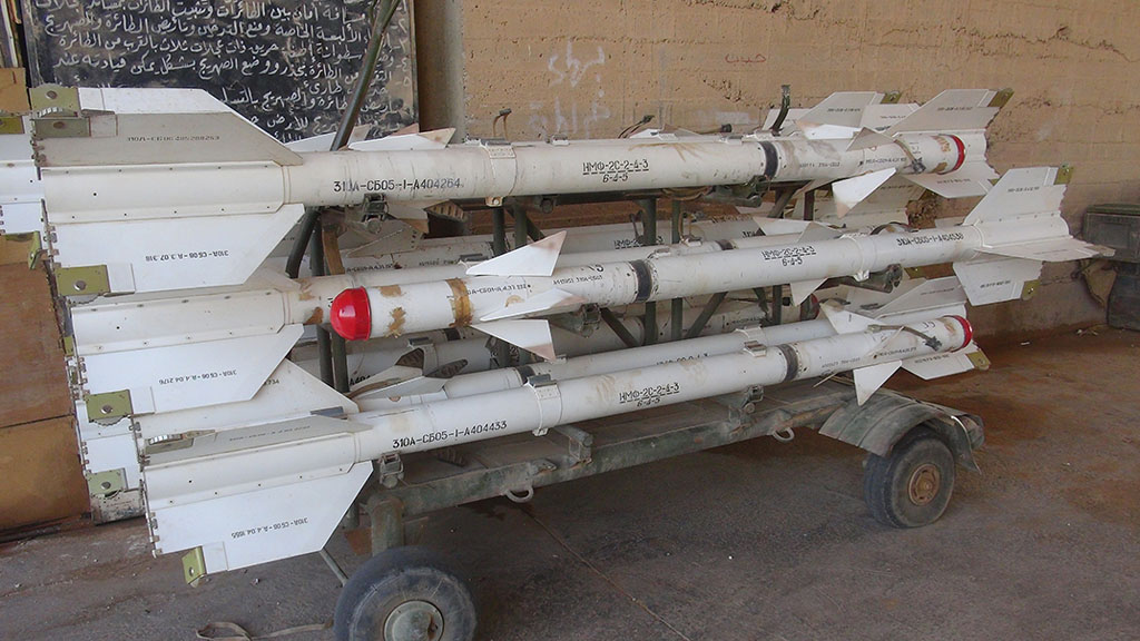 Air to air missiles at Tabqa