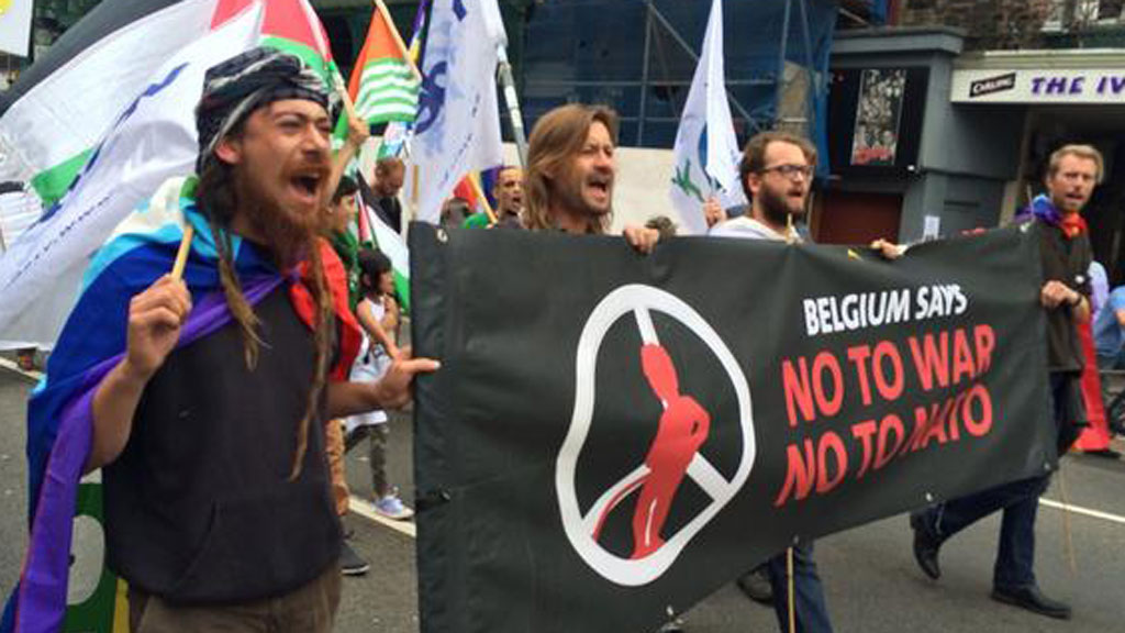 Anti-nuclear campaigners march on Wales Nato summit