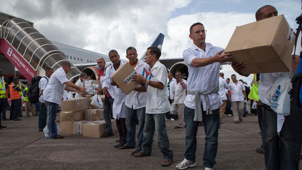 Cuban health workers in Sierra Leone
