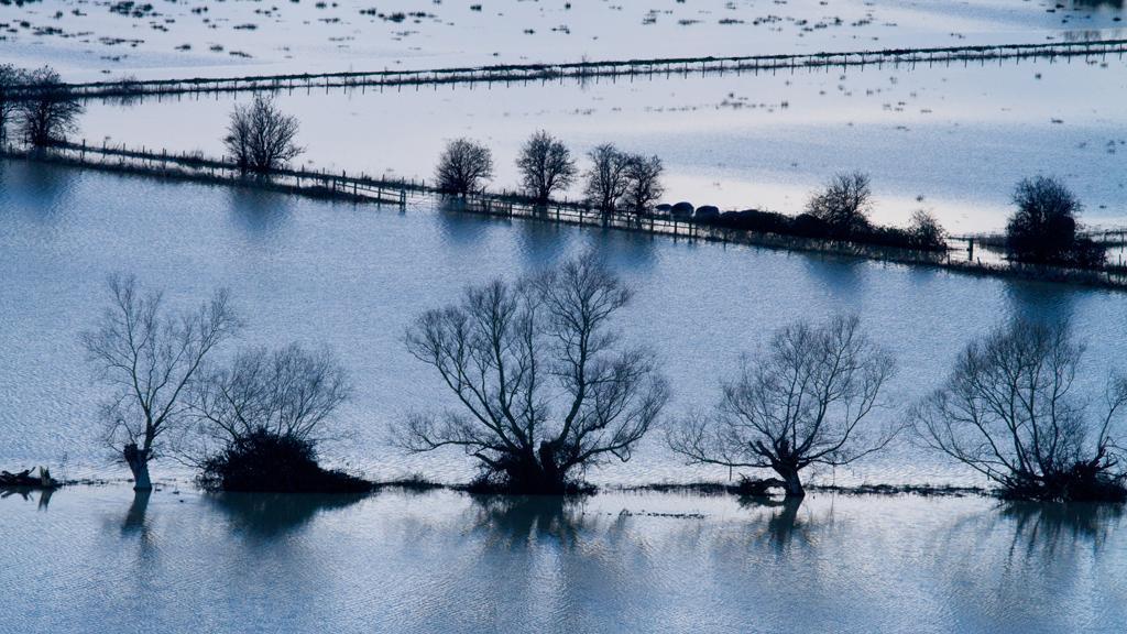 UK floods in Somerset