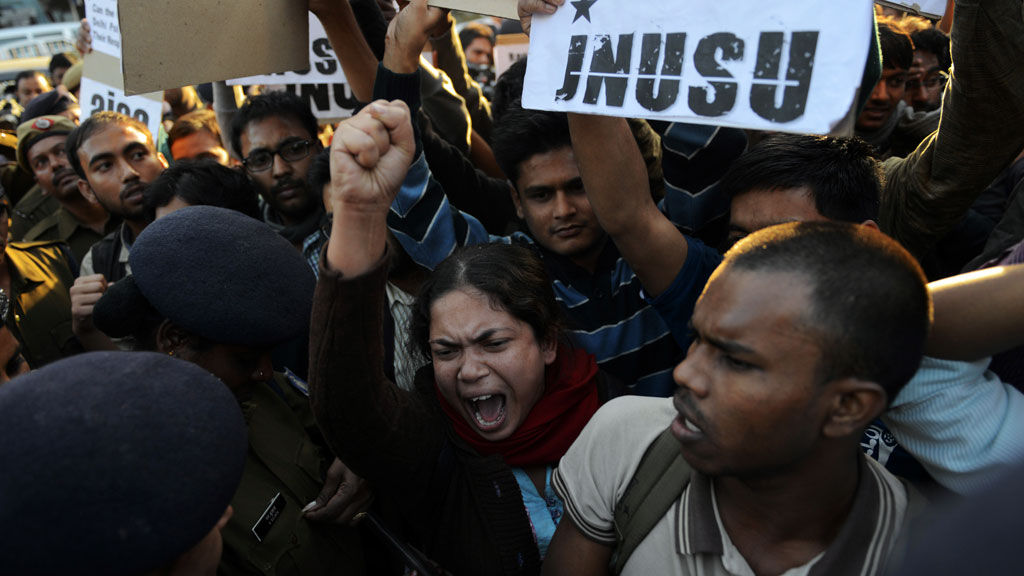 Delhi protest