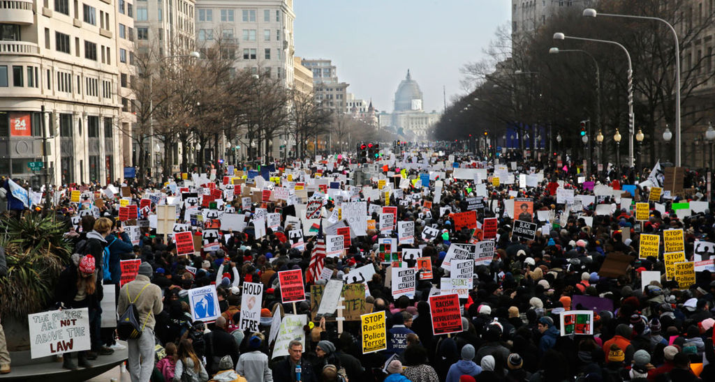 Washington DC march over police killings