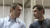 Alexei Navalny and his brother Oleg (Reuters)