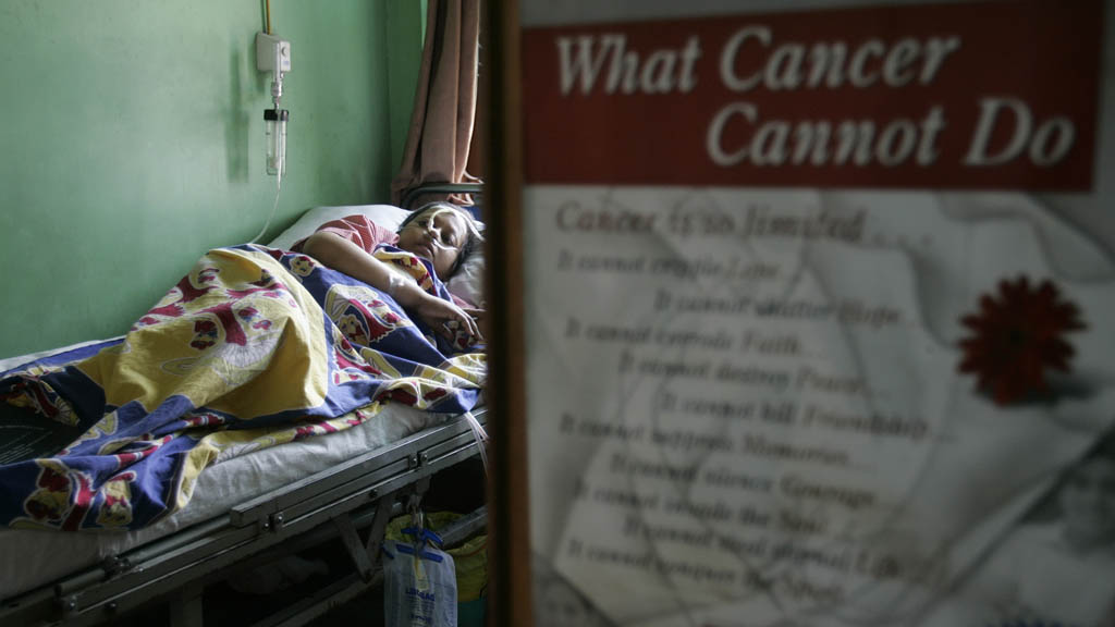 Cancer patient in India (picture: Reuters)