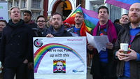Boycotting the Winter Olympics opening ceremony over gay rights? Watch the London Gay Men's Chorus outside the Russian embassy instead.