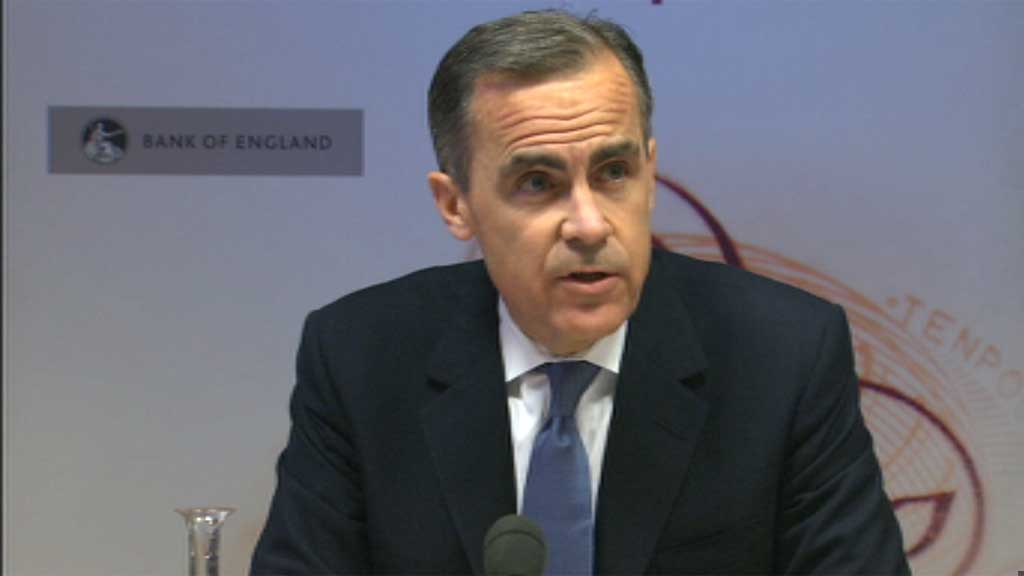 Bank of England Governor Mark Carney ditches his flagship interest rates policy, but says the cost of borrowing is unlikely to rise in the near future despite falling unemployment.