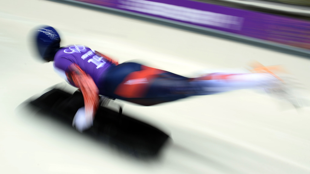 Lizzy Yarnold on the track (Getty)