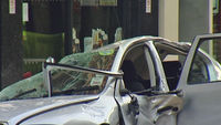 Car crushed by falling masonry in Holborn