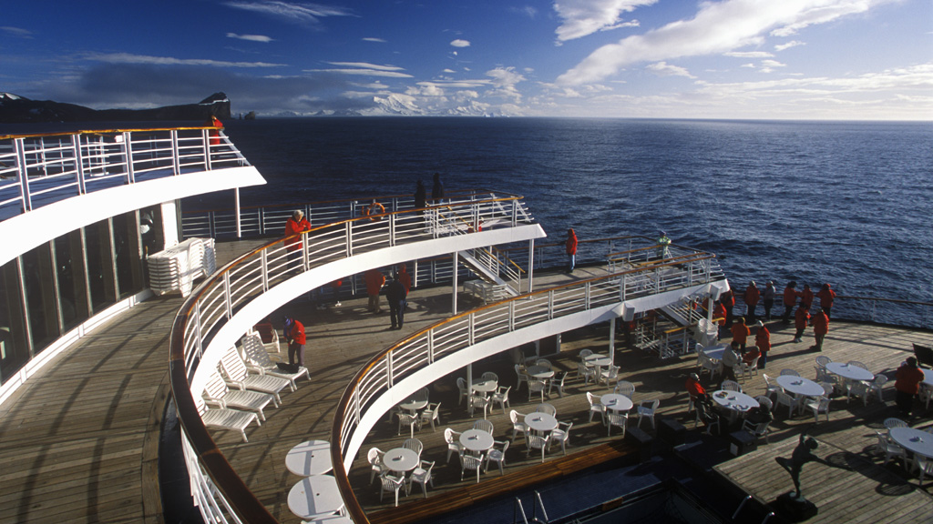 The deck of the Marco Polo in calmer seas (Getty)